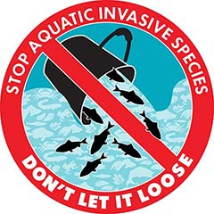 Invasive live food/crab logo – Stop aquatic invasive species: Don't let it loose