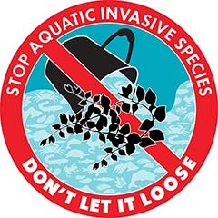Invasive plants logo – Stop aquatic invasive species: Don't let it loose