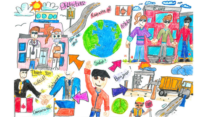 Think Globally Art Contest Grade 2 to 3 winning entry submitted by Coilan Rafael