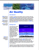 First page of Focus On, Air Quality document
