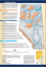 Alberta Topography Poster