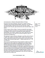 First page of Focus On, Fisheries Management document