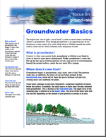 First page of Focus On, Groundwater Basics document