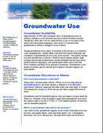 First page of Focus On, Groundwater Quality and Quantity document