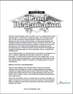 First page of Focus On, Land Reclamation document