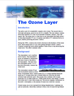 First page of Focus On, Ozone Layer document