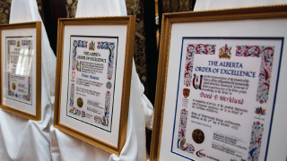 Alberta Order of Excellence scroll in frame