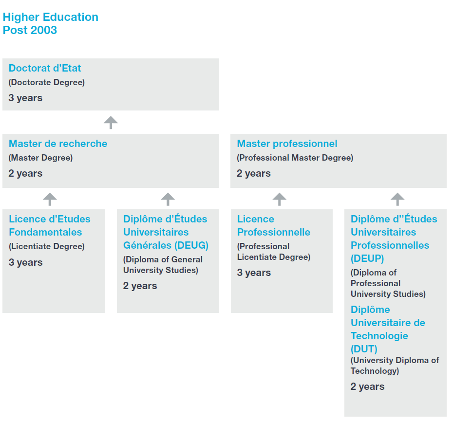 Flowchart of Morocco's higher education system
