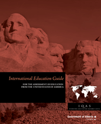 Image of United States of America International Education Guide cover page.