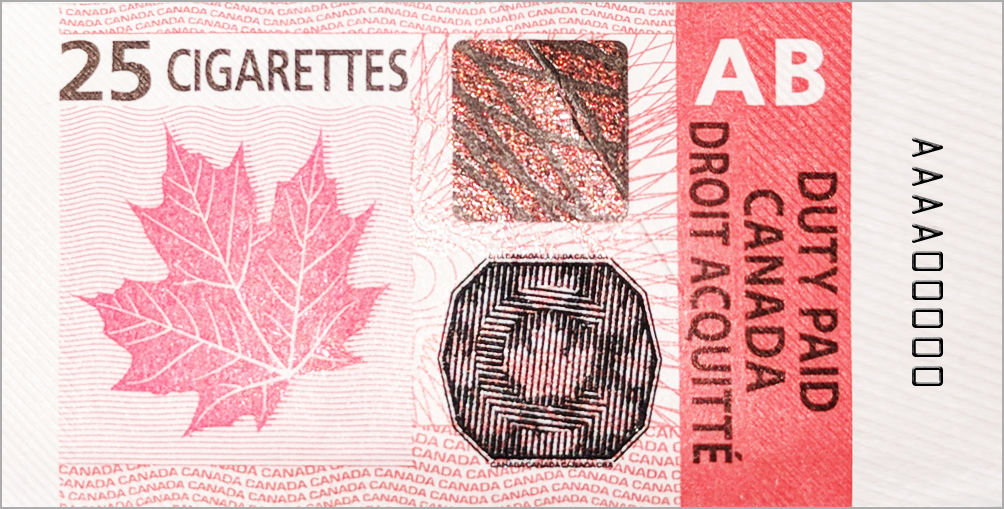 Alberta tobacco tax stamp