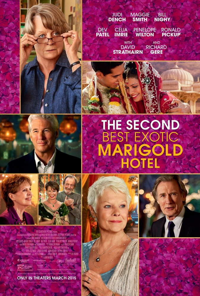 Second Best Exotic Marigold Hotel movie poster.
