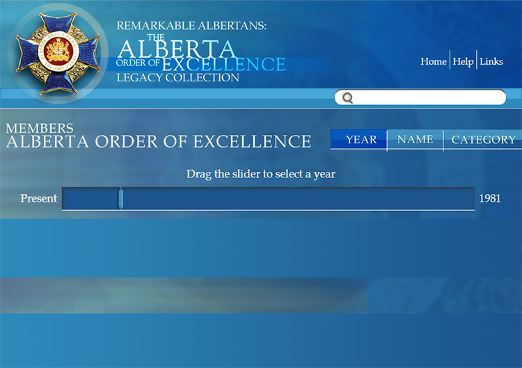 Alberta Order of Excellence resource: Legacy collection