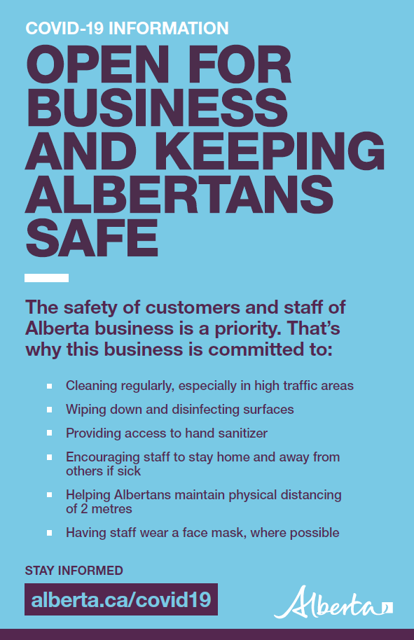 Open for business and keeping Albertans safe