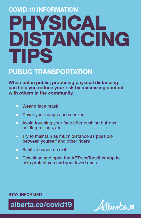 Physical distancing: Public transportation tips