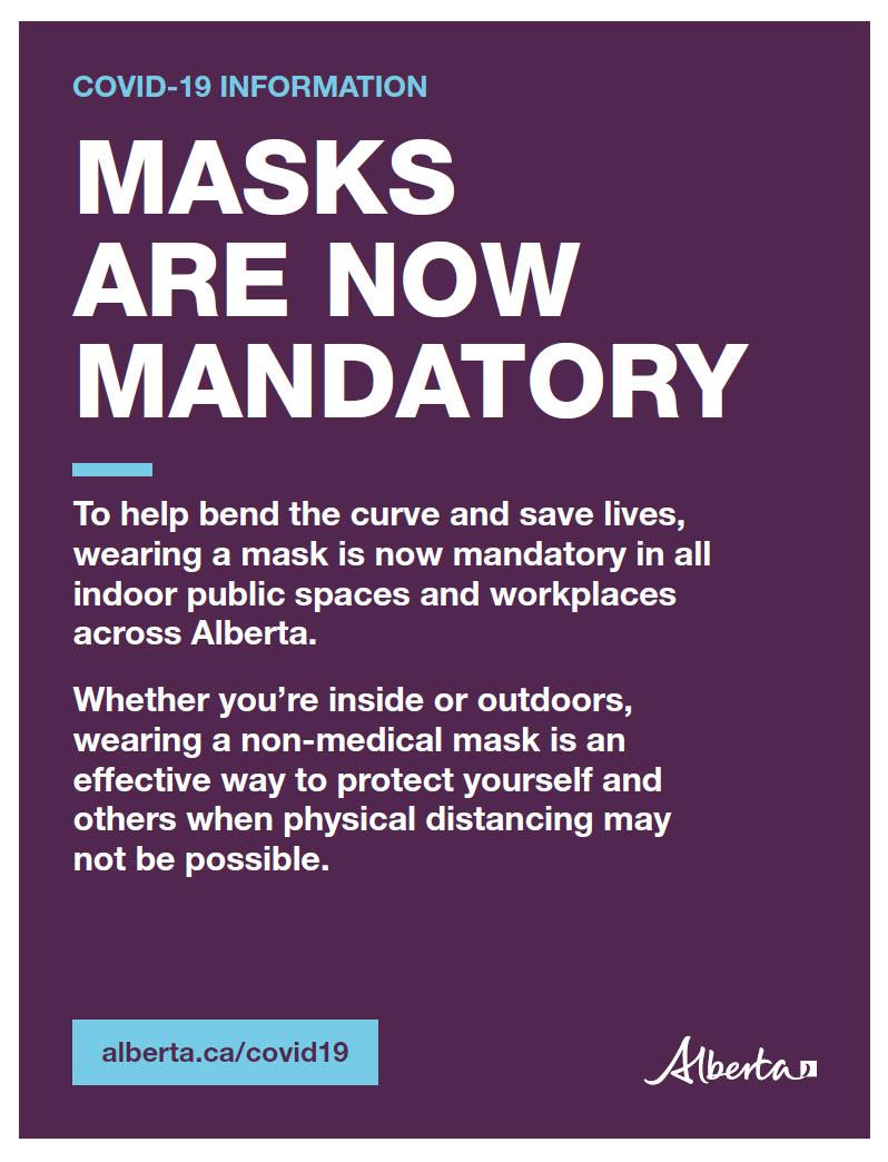 Mandatory masks info poster