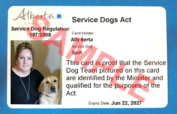 Get A Service Dog Identification Card Alberta