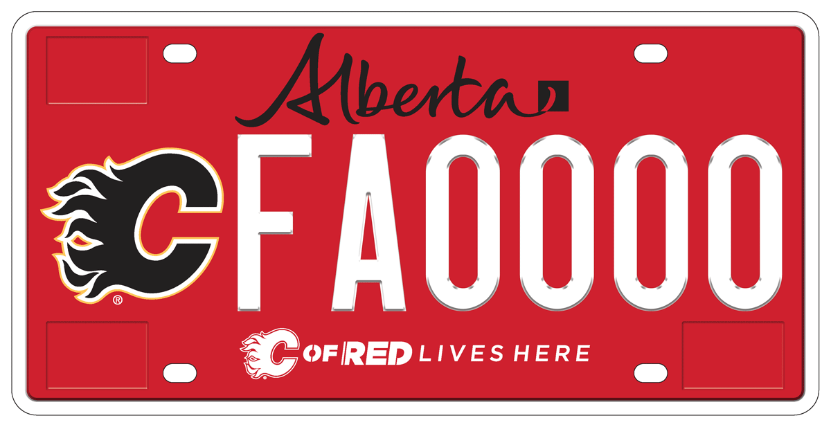 Calgary Flames Licence Plate Alberta Ca